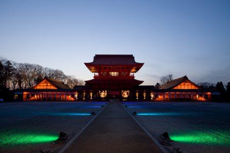 瑞龍寺のライトアップ